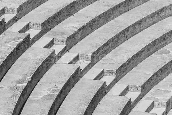 Schody wysoki kontrast czarno białe wzór budynku Zdjęcia stock © Bertl123