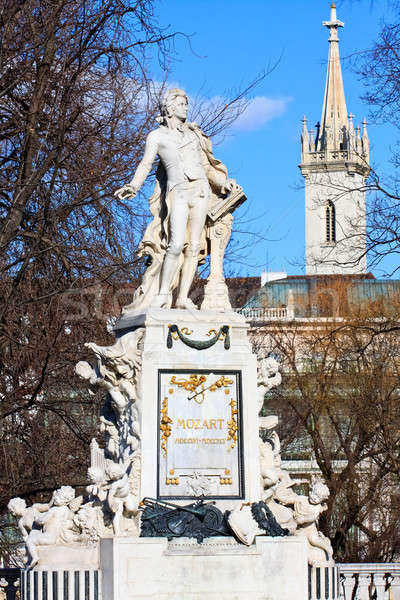 Mozart memorial in the Vienna Burggarten Stock photo © Bertl123