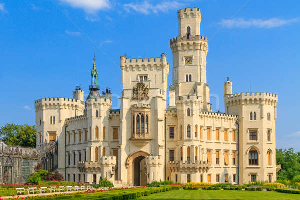 Palácio tcheco República Checa céu flor azul Foto stock © Bertl123
