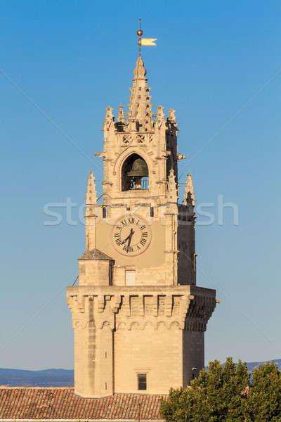 Harang torony óra fal kék idő Stock fotó © Bertl123