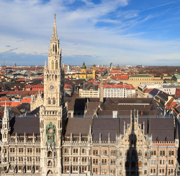 Munich, Gothic City Hall at Marienplatz, Bavaria, Germany Stock photo © Bertl123