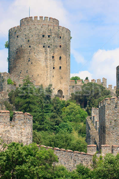 Castle of Rumeli guarding the Bosporus, Istanbul, Turkey Stock photo © Bertl123