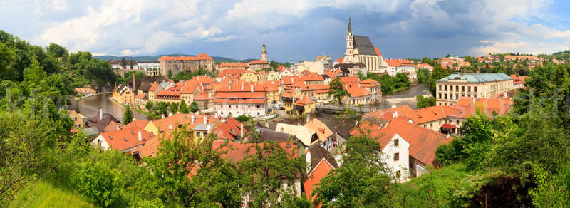 Cesky Krumlov / Krumau Panorama, UNESCO World Heritage Site Stock photo © Bertl123