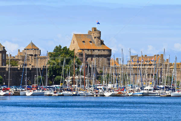 St. Malo Fortifications and Harbor, Brittany, France Stock photo © Bertl123