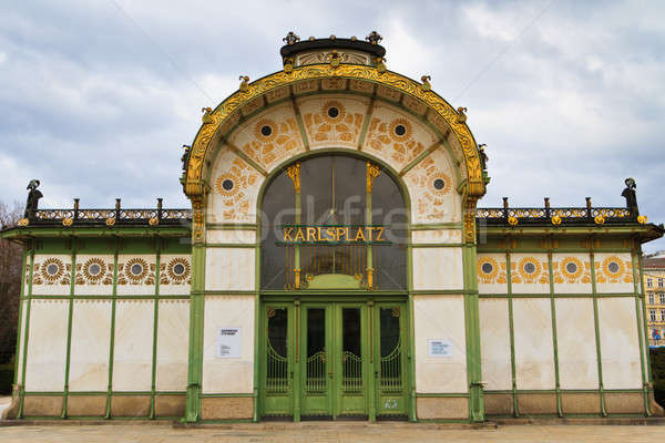 Karlsplatz Subway Station (Otto Wagner Pavilion), Vienna, Austr Stock photo © Bertl123