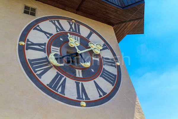 Famous Clock Tower (Uhrturm) in Graz, Styria, Austria Stock photo © Bertl123