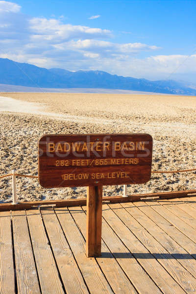 Badwater Basin, Death Valley National Park, California  Stock photo © Bertl123