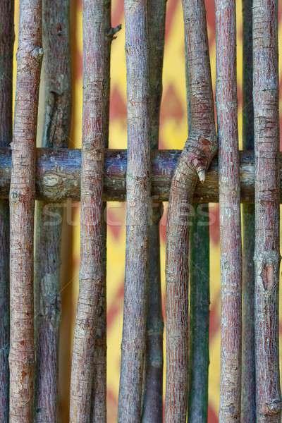 木材 スティック フェンス 細部 テクスチャ 抽象的な ストックフォト © Bertl123