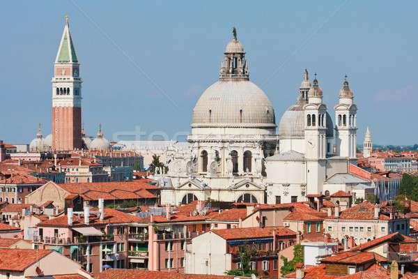 Campanile and Santa Maria della Salute Cathredral, Venice, Italy Stock photo © Bertl123
