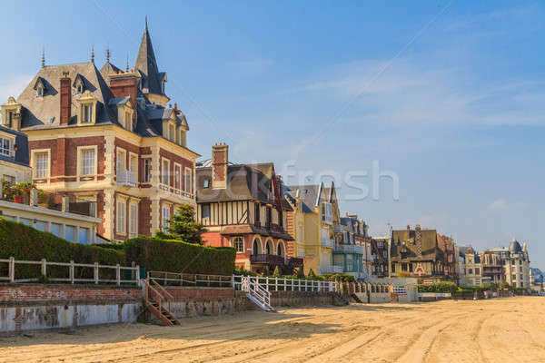 Trouville sur Mer beach promenade, Normandy, France Stock photo © Bertl123