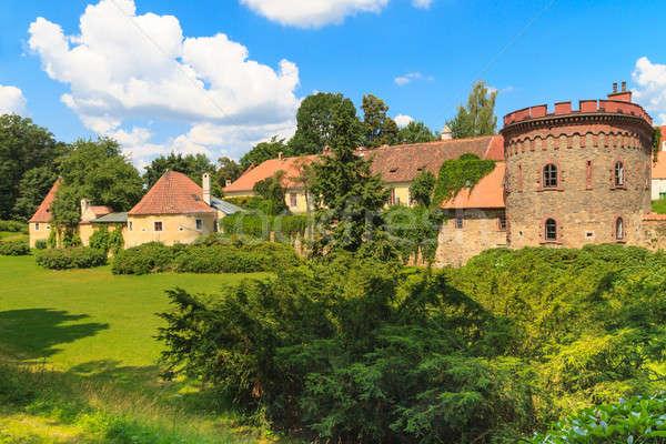 óváros erődítmény cseh Csehország kert kék Stock fotó © Bertl123