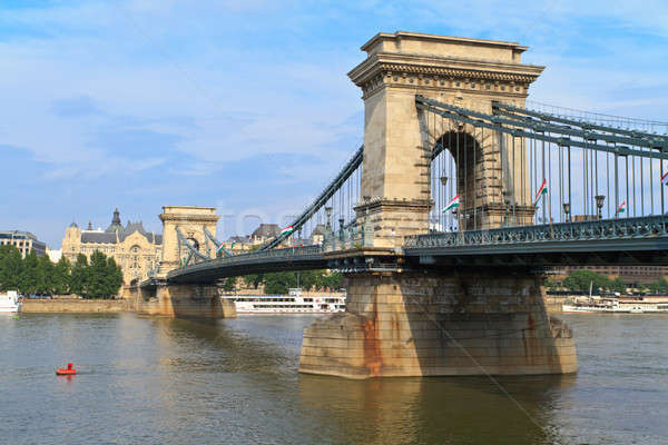Budapest Chain Bridge Stock photo © Bertl123