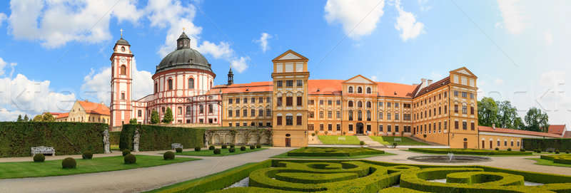 Jaromerice Palace, cathedral and gardens in Southern Moravia, Cz Stock photo © Bertl123