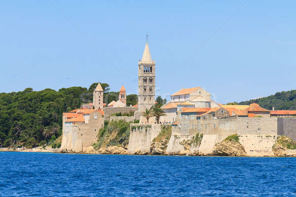 Croatian island of Rab, view on city and fortifications, Croatia Stock photo © Bertl123