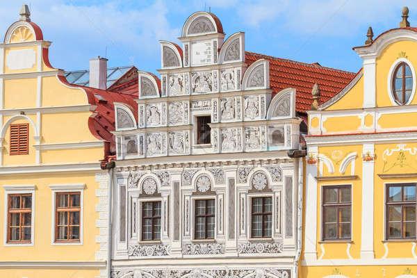 Huizen Tsjechische Republiek unesco wereld erfgoed Stockfoto © Bertl123