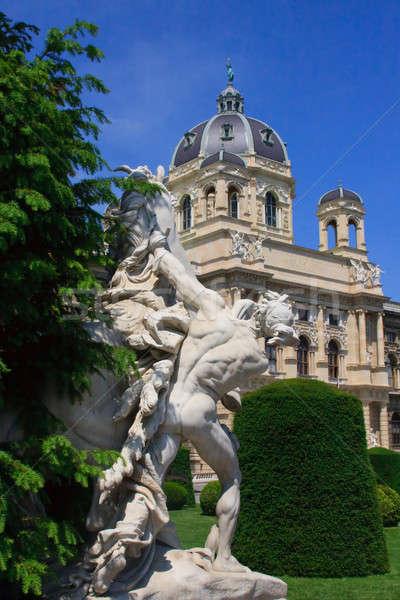 Natuurlijke geschiedenis museum Wenen Oostenrijk muur Stockfoto © Bertl123