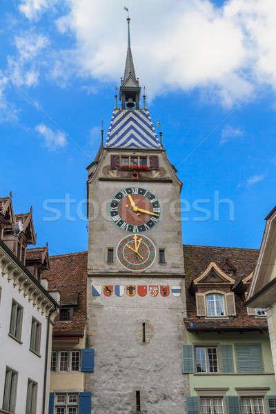 Zytturm / Tower of Zyt in the Swiss City of Zug Stock photo © Bertl123