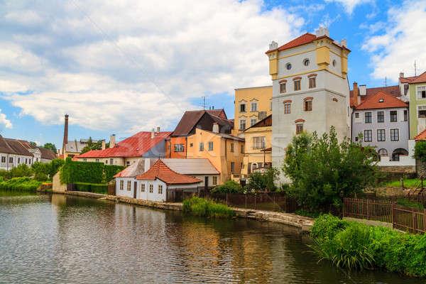 Görmek kasaba Çek Cumhuriyeti ev mavi kale Stok fotoğraf © Bertl123