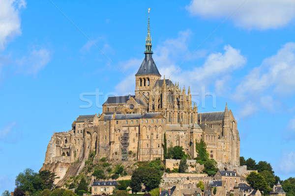 Abadia normandia França céu mar Foto stock © Bertl123