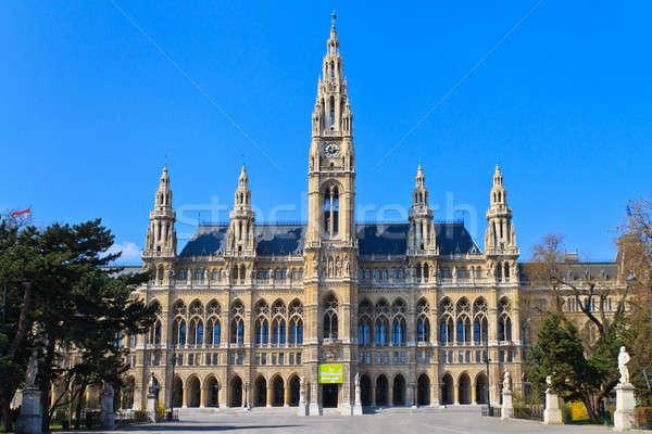 Stad hal Wenen Oostenrijk geen mensen gebouw Stockfoto © Bertl123