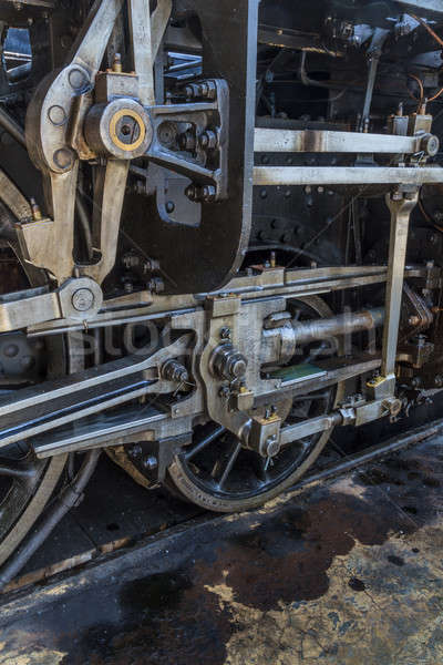 ストックフォト: 細部 · 古い · エンジン · 鉄道 · 博物館