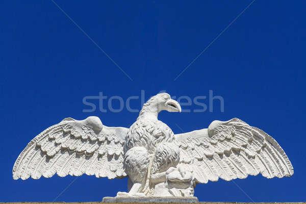 Stock fotó: Sas · kő · szobor · építészeti · részlet · épület · madár
