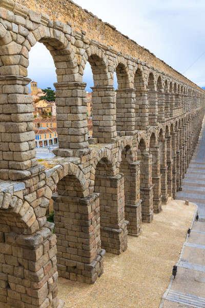 Római Spanyolország égbolt épület építkezés fal Stock fotó © Bertl123