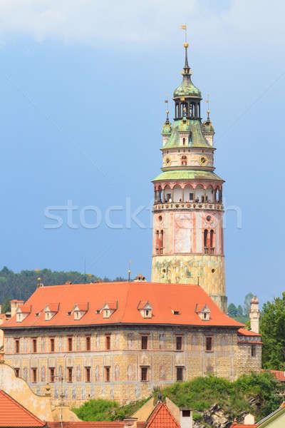 Kilátás kastély torony unesco világ örökség Stock fotó © Bertl123