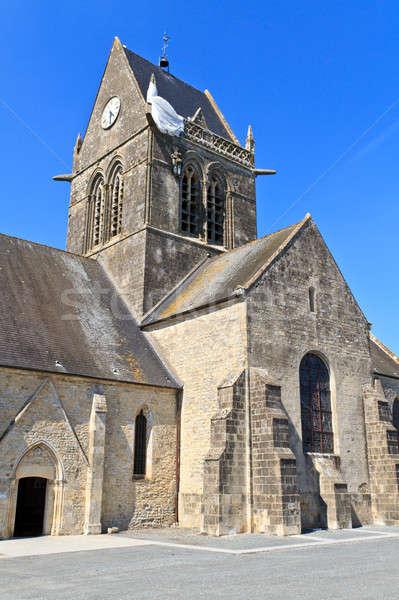 St. Mere Eglise, Normandy, France Stock photo © Bertl123