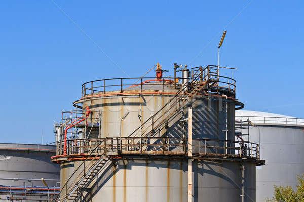 Oil Refinery (blue sky) Stock photo © Bertl123