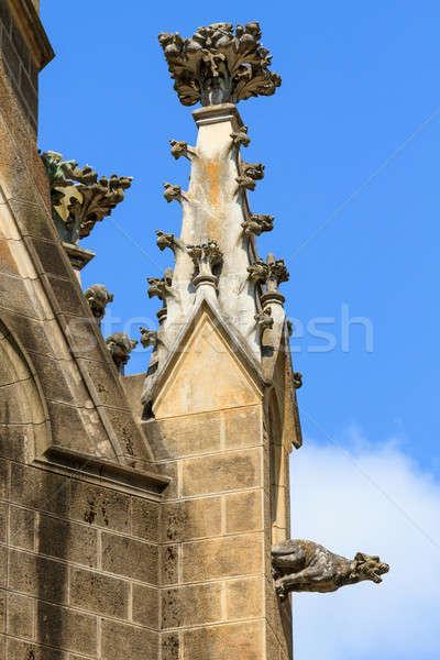 Gothic chiesa dettaglio architettonico castello pietra architettura Foto d'archivio © Bertl123