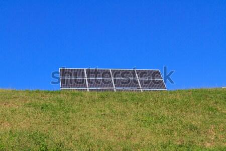 Verde prato cielo blu cielo erba Foto d'archivio © Bertl123