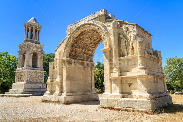 Roman City of Glanum, Triumphal Arch and Cenotaph, Saint-Remy-de Stock photo © Bertl123