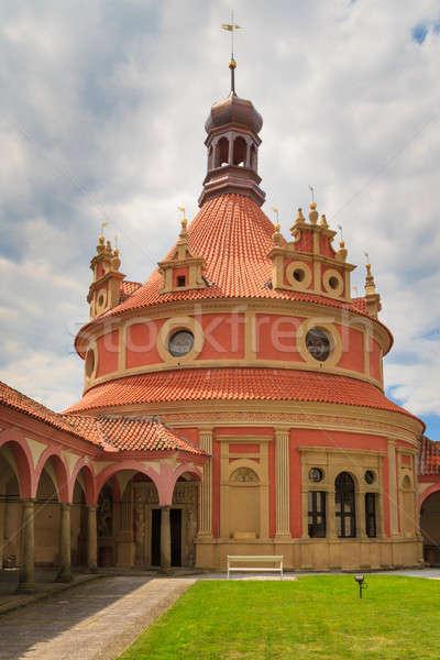 城 チェコ語 チェコ共和国 家 青 ストックフォト © Bertl123