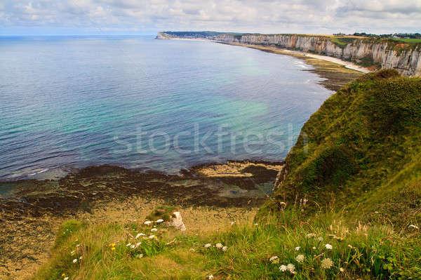Normandía Francia naturaleza azul rock Foto stock © Bertl123