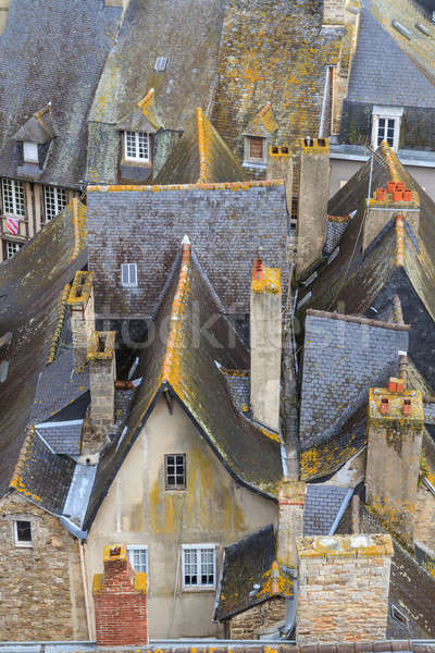 Dinan old town roof tops, Brittany, France Stock photo © Bertl123