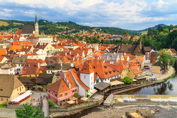 Cesky Krumlov / Krumau, Czech Republic, Church of Saint Vitus Stock photo © Bertl123