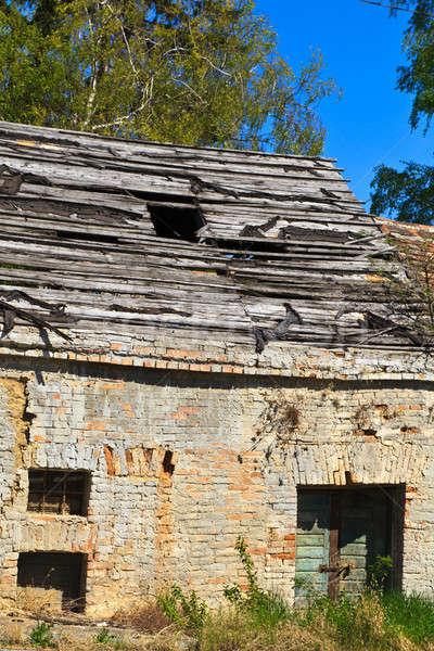 Verlaten oude huis details detail Stockfoto © Bertl123