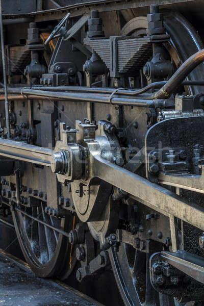 Details oude stoomlocomotief motor spoorweg museum Stockfoto © Bertl123