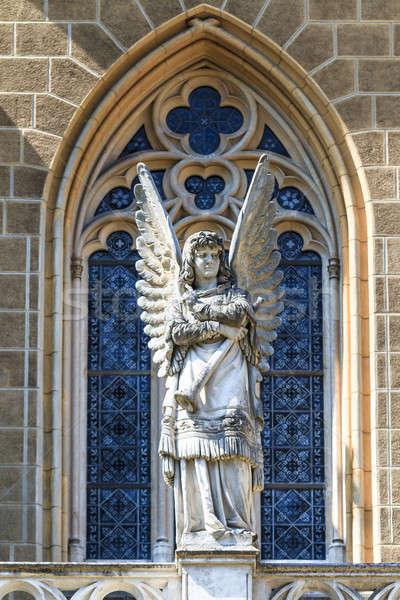 Gothic Angel Architecture Detail of Church Stock photo © Bertl123