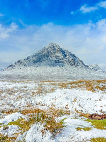 Schotse hooglanden schilderachtig water gras natuur landschap Stockfoto © Bertl123
