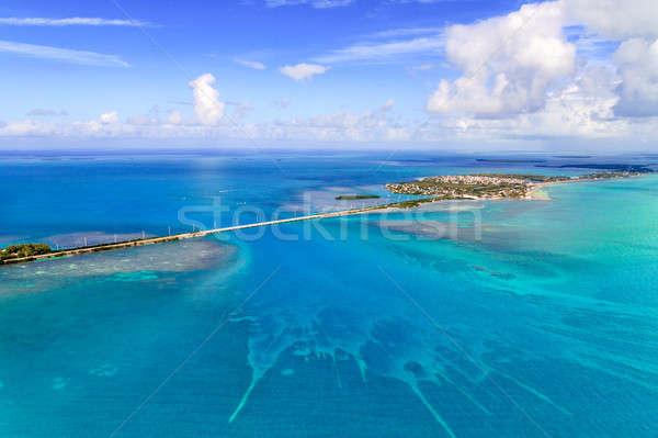 Florida sleutels luchtfoto brug zomer oceaan Stockfoto © Bertl123