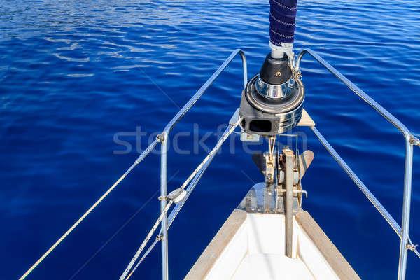 Stock fotó: íj · vitorlázik · csónak · jacht · kék · tenger