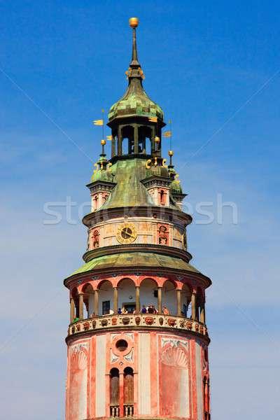 Castle tower, Cesky Krumlov, Czech republic Stock photo © Bertl123