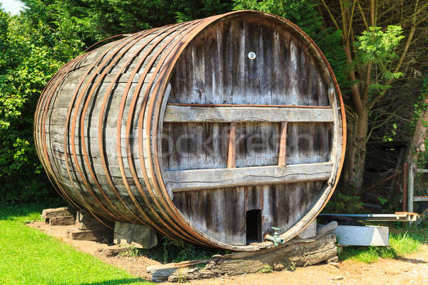Wooden Barrel outside of Winery Stock photo © Bertl123