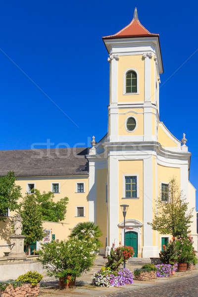 Kolostor templom Ausztria zene imádkozik Isten Stock fotó © Bertl123