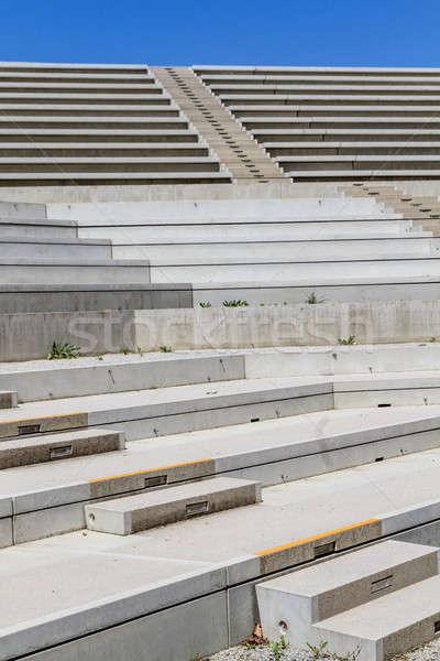 Beton merdiven modern amfitiyatro arka plan konser Stok fotoğraf © Bertl123
