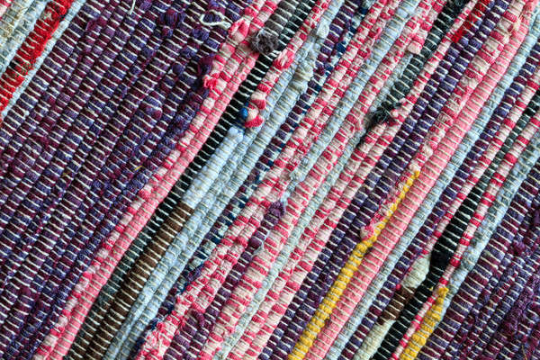 Rag Rug Carpet Close Up Stock photo © Bertl123