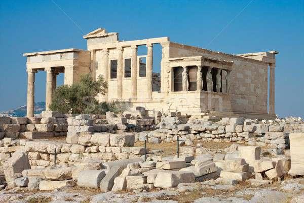 Erechtheion temple panorama, Acropolis, Athens, Greece Stock photo © Bertl123