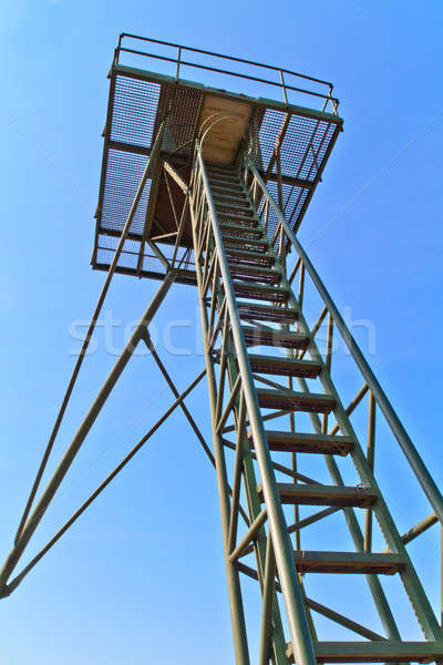 Iron Curtain Watch Tower Stock photo © Bertl123